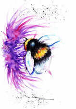 Bee,Sale,Original ,Watercolour ,Print ,Card, Gift, Wildlife,Animal,Art, wall