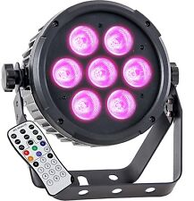 IBIZA PARLED712IR RGBW + UV 7 x 12W LEDs Fernbedienung DMX Club Party Bar NEU