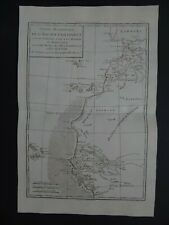1780 BONNE  Atlas map  WEST AFRICA - CANARY ISLANDS - CAPE VERDE - GAMBIA