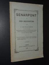 SENARPONT ET SES SEIGNEURS - Abbé Théodore Lefèvre - 1876 - PICARDIE