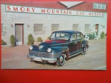 POSTCARD SMOKY MOUNTAIN CAR MUSEUM - 1942 CHRYSLER NEW YORKER 4 DOOR SALLON