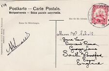 German South West Africa postcard with Grootfontein postmark, creased