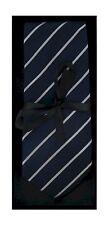 Navy Blu con riga bianca Cravatta di seta POPOLO 05