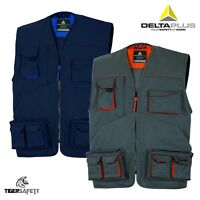 Delta Plus Panoply M2GIL Mach 2 Mens Multi Pocket Work Vest Gilet Tool Vest Coat