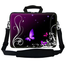 "17.3"" 17"" Neoprene Laptop Bag Sleeve with Pocket Shoulder Strap Handle 2702"