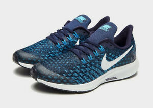 Nike Air Zoom Pegasus 35 Blue Junior Shoes SIze UK 1 US 1.5Y EU 33 BRAND NEW