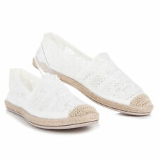 WOMENS-LADIES SLIP ON, LACE FLAT ESPADRILLES NEW SUMMER HIT 2018 UK SIZES 3-8