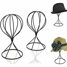 Mydio 2 Pieces Modern Metal Hat Stands Durable Stable Cap Rack Wigs Holder, Home