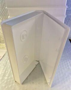VHS Video Tape Storage Cases- White Plastic- Full Sleeve- New - Lot of 10 -Alpha