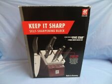 Brand New! Zwilling 30152-008 7-Piece Knife Set W/ Self-Sharpening Block