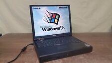 Vintage Dell inspiron 7000 Laptop Windows 98 SE Office Serial Port Floppy & DVD