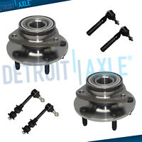 Front Wheel Bearing Hub Outer Tierods Sway Bars for 1998 1999 Dodge Ram 1500 4WD