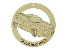 Mazda Mazdaspeed3 Natural Maple Hardwood Ornament Sanded Finish Laser Engraved