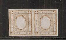 1862 ITALY SA# 10ea, 2c FIGURE OF VALUE OMMITED PAIR, CV $6800.00