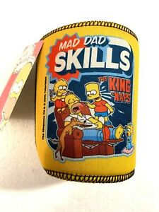 The Simpsons ~ 'Mad Dad Skills' Can/Stubby Holder FREE SHIPPING in AUS