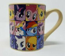 My Little Pony Coffee Mug 2013 Hasbro Cute Princess Ponies Beige HUB