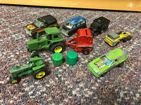 10 Piece Hot Wheels Matchbox Ertl Tomica Yatming Vintage Used Car Lot Collection