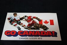 "1972 TEAM CANADA postcard Canada vs Russia 6"" X 4""*GO CANADA* by Scotiabank"