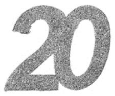 20. Geburtstag silberne Konfetti Confetti Streudeko Tisch Dekoration