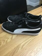 Mens Puma Suede Classic, Black & White UK 10 , worn once, great condition