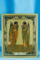 Archangels Michael and Gabriel Icon Sofrino  Архангелы Михаил и Гавриил Икона