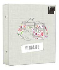 "Large Ringbinder Photo Album 500 Photos Memories Design Holds 500 6x4"" Photos"