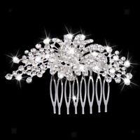 Peigne à Cheveux Strass Perle Ronde Bijoux Mode de Mariage soirée bal Femme