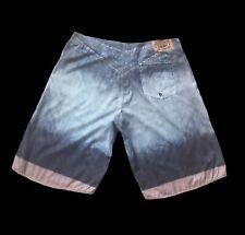 Crooks and Castle Photo Printed Denim Beach Shorts
