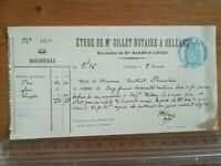 8 mars 1904 - ancien acte notarié - Bordereau reçu 11,5 francs - 2 pages