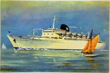 "Cartolina Marina - Motonavi ""Cabo San Roque"", ""Cabo San Vicente"" Compagnia Di Na"