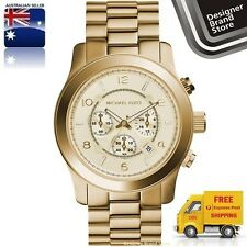 New Michael Kors Watch Runway Oversized Gold Tone Mk8077 -Express Post Melbourne