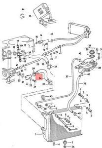 Genuine AUDI 100 Avant quattro 200 5000 Turbo 44 Coolant Hose 447121055B