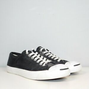Converse Jack Purcell Leather Ox Sneaker Men's Shoes Size 10 Black 1S962