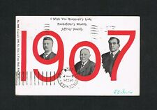 STUNNING 1907 WORLD CHAMPION JIM JAMES JEFFRIES boxing postcard boxer dated 1906