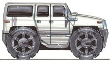 Hummer H3 Printed Koolart Cartoon T Shirt 1855 Other Colors May Be Available