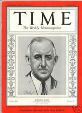 Time Magazine May 08, 1933 Raymond Moley Cover