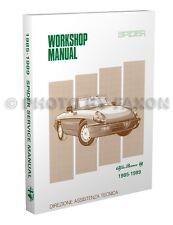 Alfa Romeo Spider Shop Manual 1985 1986 1987 1988 1989 Veloce Graduate Quadrifog