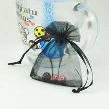 20X Wholesale Bulk Lots Organza Voile Jewelry Gift Favor Candy Bag Pouch Black