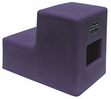 2 Step Horse Mounting block HCP w/ Storage Purple High Country Plastics two