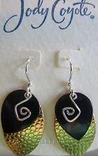 Jody Coyote Earrings JC0671 new sapphire QG067 dangle black silver gold 2