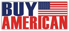 "Buy American sticker decal 8"" x 3"""