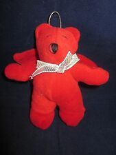 "North American Bear #7050 Harold Angel Bear 1988 Christmas Ornament Red 5"" NWT"
