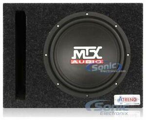 "MTX TN10-04 300W Single 4 ohm 10"" Car Subwoofer + Free Ported Enclosure Box"