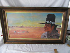 """Shepherd Over looking his Flock Signed by Jessica 35"""" x 20"""" Framed"""