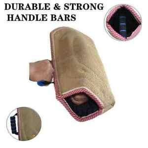 Dog Bite Training Sleeve K9 Police Arm Protection Tan High Density Jute Padding