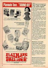 1970 ADVERT Playmate Toy Juke Box Savings Bank Record Player Fono Fun