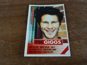 Ryan Giggs - Panini Super Players 96 Football Sticker - VGC! 1996