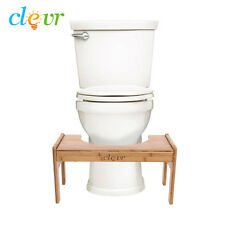 Clevr 100% Bamboo Toilet Step Stool Adjustable Ergonomic Potty Posture