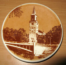 "Vintage Arabia Finland Turku Abo Plate 4 5/8"" Cathedral Shrine Plate Dish"