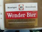 VINTAGE BELGIUM BEER LABEL. MOORTGAT BREWERY - WONDER BEER 33 CL
